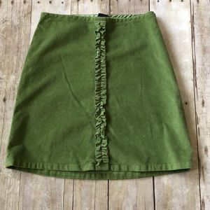 Girls Green velvet Gap skirt size 8
